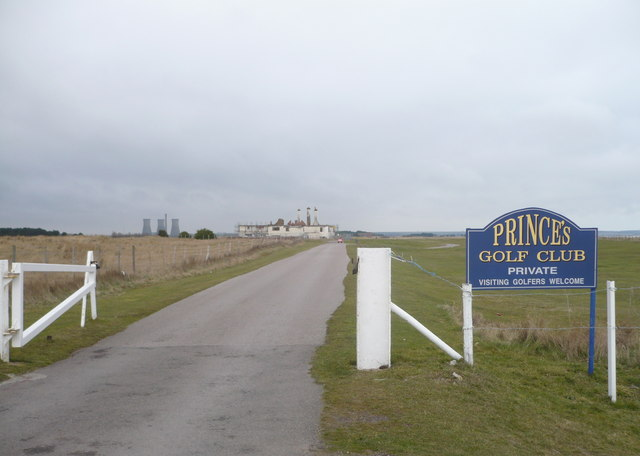 The entrance to Prince's Golf Club