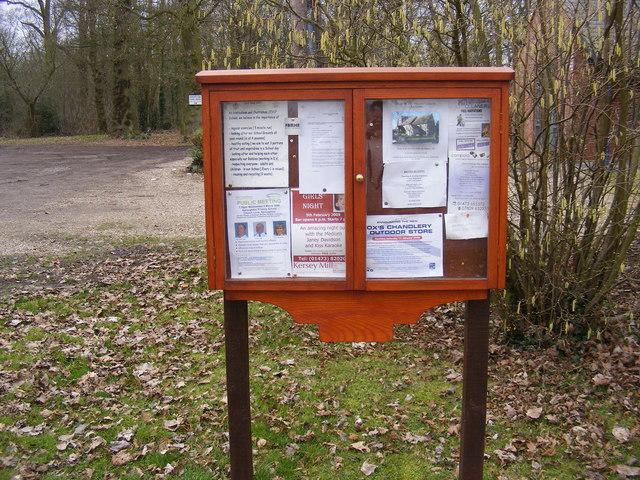 Hintlesham Village Village Notice Board