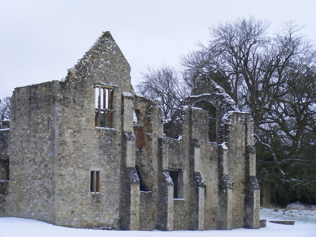 Netley Abbey in the Snow