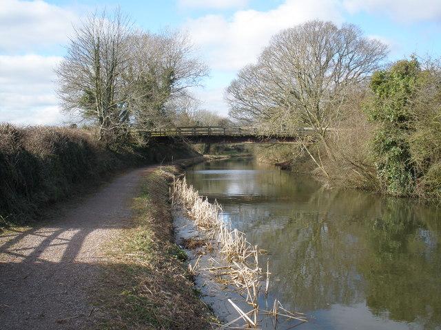 Farm access bridge, on the Grand Western Canal
