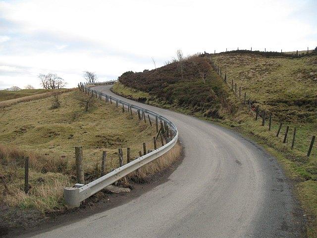 Steep road, Bathgate Hills