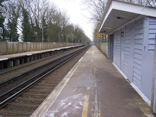 Platform 1 on East Malling Station