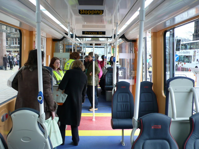 Interior of Edinburgh Tram