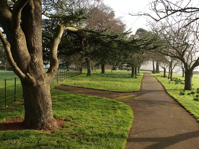 Path across Torre Abbey Meadows