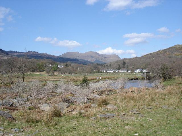 Afon Glaslyn - view towards Beddgelert