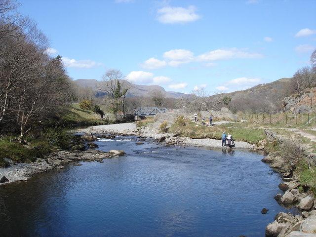 Afon Glaslyn - south of Beddgelert