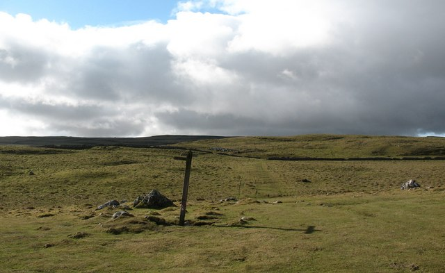 Path junction, Dean Moor
