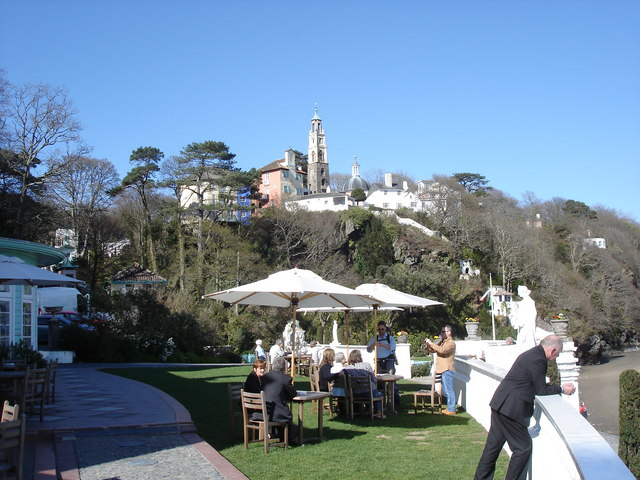 Portmeirion - from the lawn in front of the Portmeirion Hotel