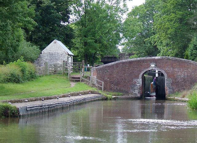 Colwich Lock and Bridge, Little Haywood, Staffordshire