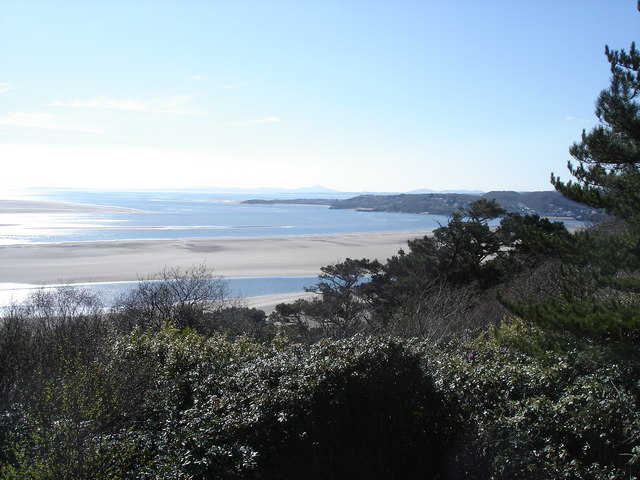 View towards the Lleyn Peninsula from the Portmeirion Peninsula