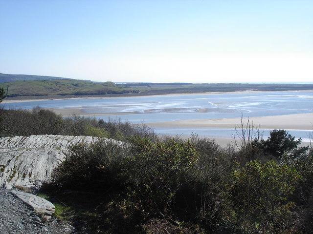 View towards Morfa Harlech from the Portmeirion Peninsula