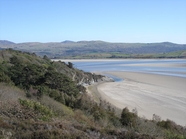 View to the south across the estuary from the Portmeirion Peninsula