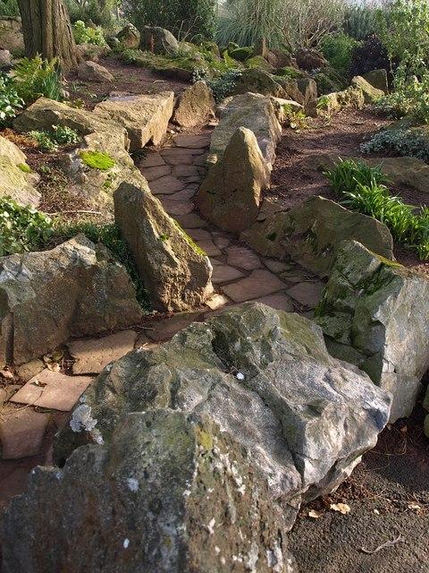 Rockery path, Abbey Park