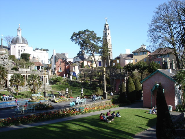 Portmeirion - from the gardens in the village