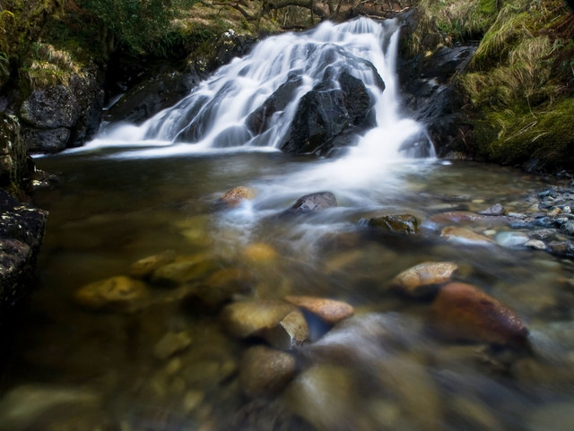 Waterfall on the Caldons Burn
