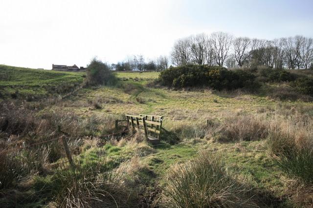 Footbridge and Path to School