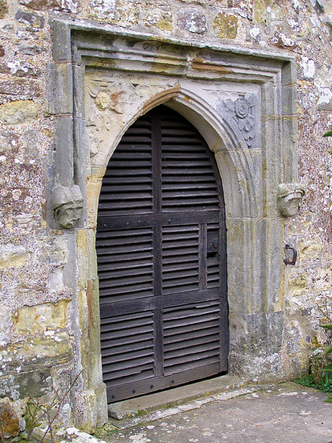 Ancient Door at St Oswald's Church, Hooe