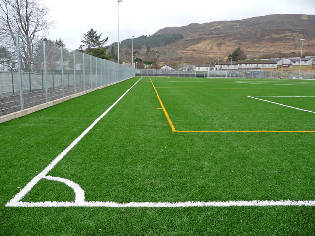 Portree High School playing field
