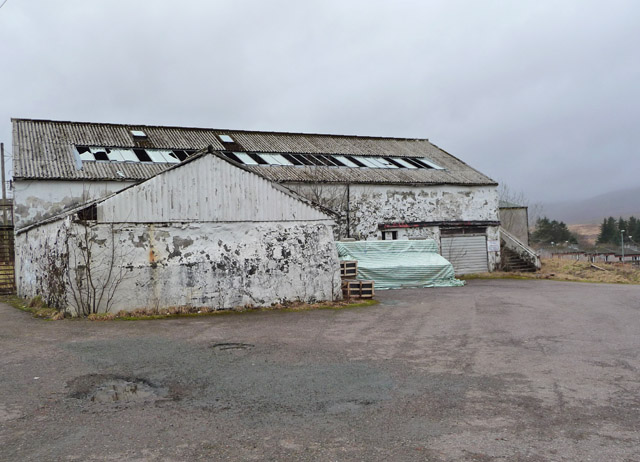 Derelict building at the Skye Wool Mill