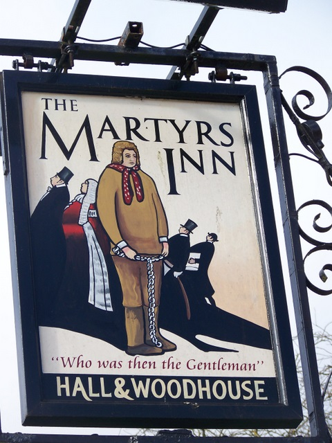 Sign for the Martyrs Inn