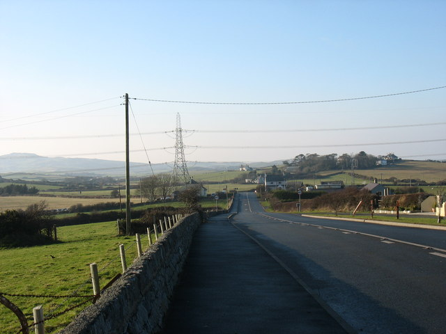 The A5025 north east of Tregele