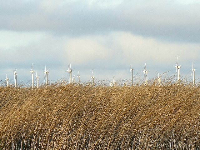 Windfarm over the hill