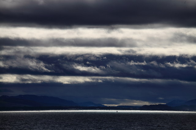 Moray Firth under heavy cloud from Chanonry Point, Fortrose.