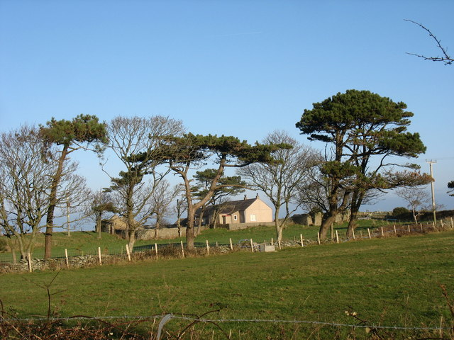 Ty-croes - a pleasant smallholding near Wylfa Head