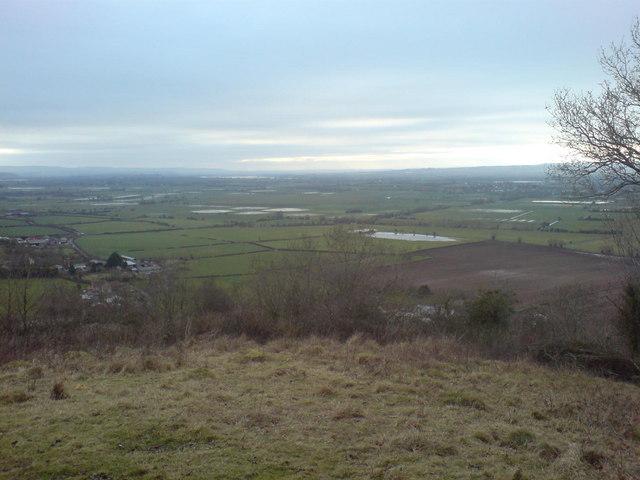 View over King's Sedge Moor