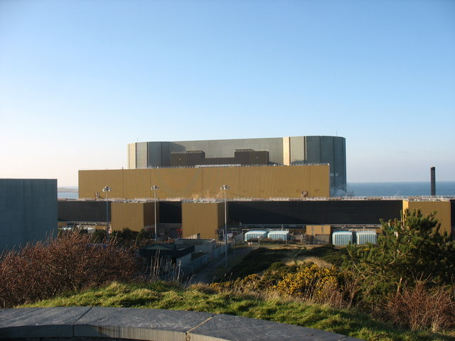 The reactor building of the Wylfa NP Station