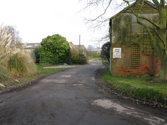 Entrance to Knell Farm
