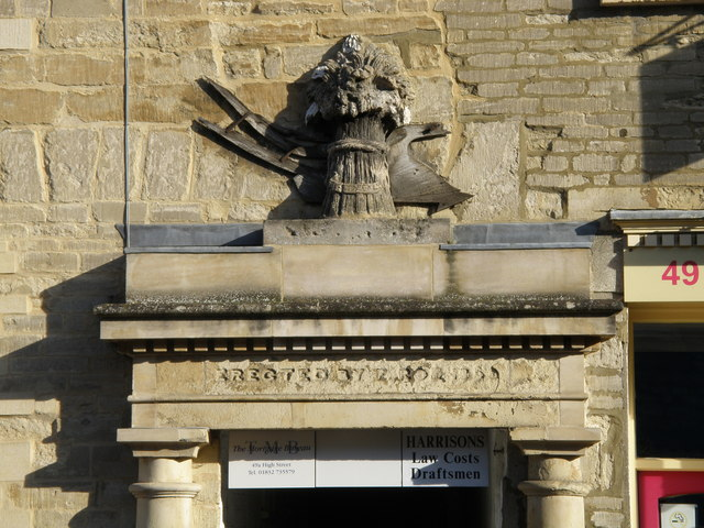 Detail above the door at Thrapston Corn Exchange