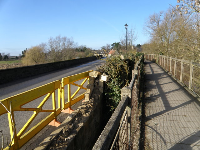 Thrapston Bridge takes a bit of a knock