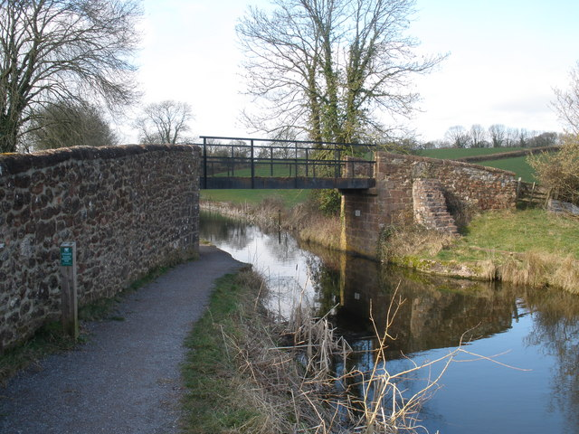 Former swing bridge on the Grand Western Canal