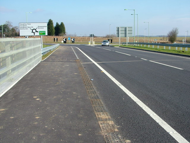 A14 overbridge and roundabout
