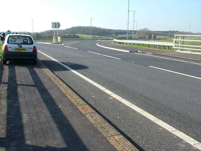 A14 overbridge looking south