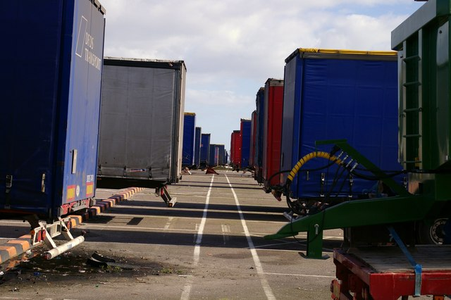 Trailers at Parkeston Quay