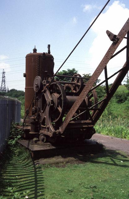 Derelict steam crane, Mount Sion