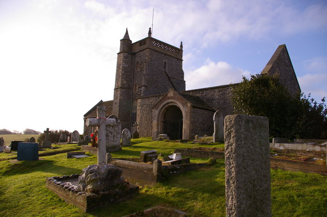 The ruin of Uphill church