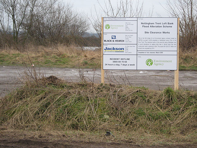 Flood Defence Work Contact Board