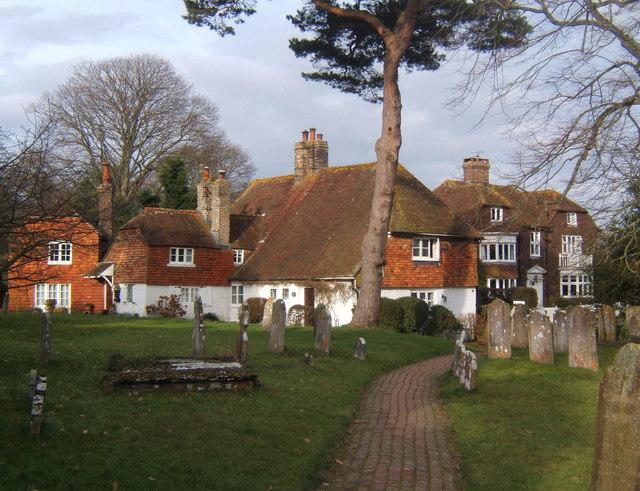 Churchyard and houses