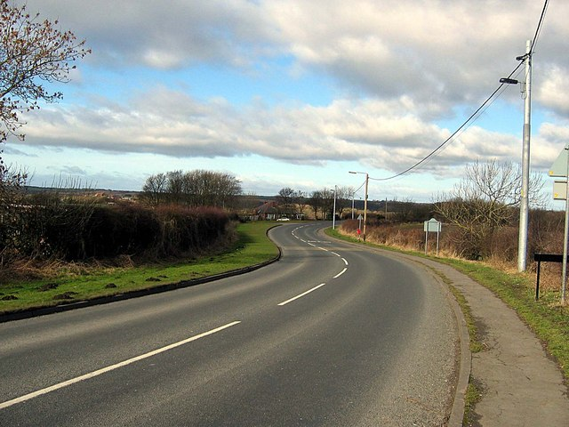 Thornley Road leaving Deaf Hill