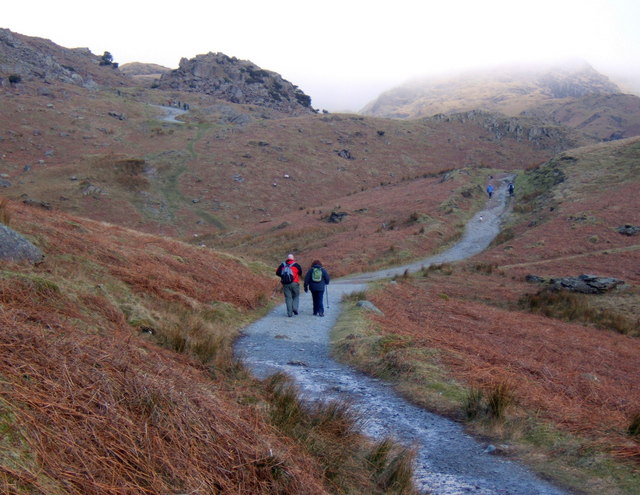 Track on the lower slopes of Coniston Old Man