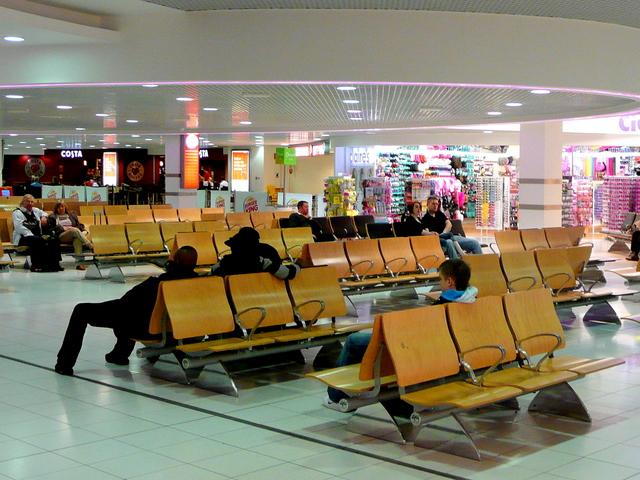 Departure lounge; 5am 2