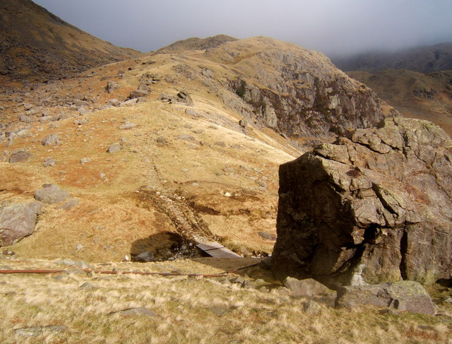 Pudding Stone and slopes towards Levers Water