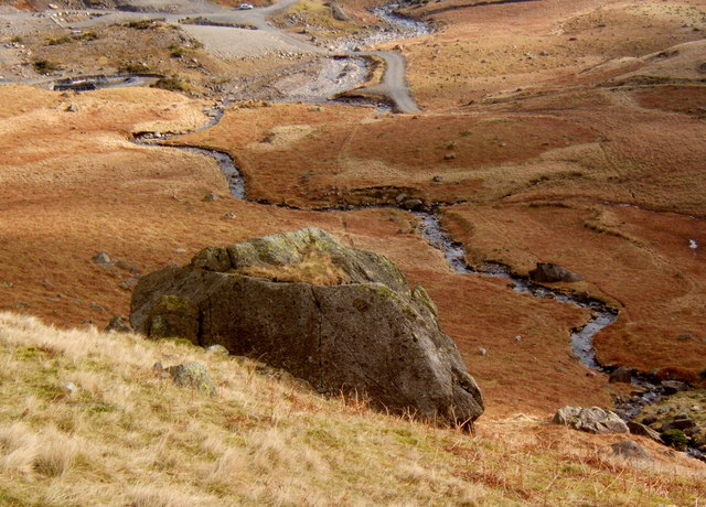 Looking down on Low Water Beck