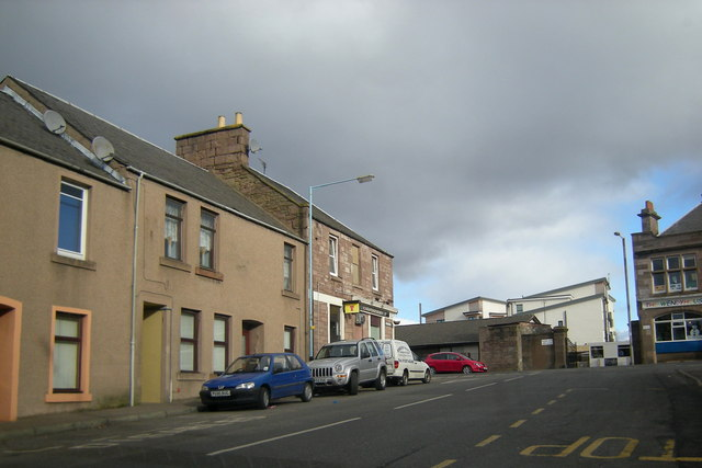 Don Street, Forfar near its junction with North Street