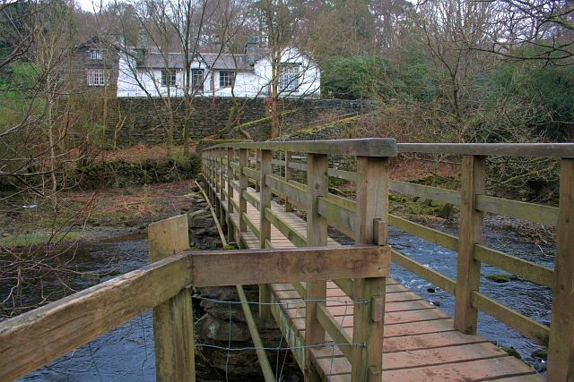 Footbridge Over The River Rothay