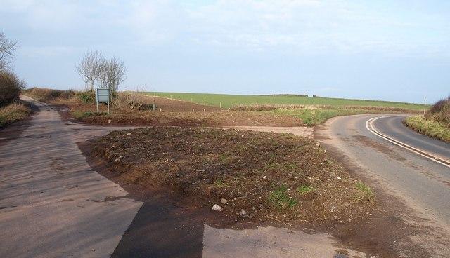Road junction near Alston