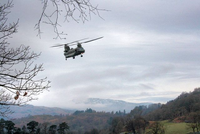 Chinook over Rydal Water